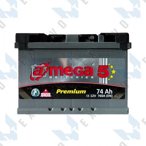 Аккумулятор A-Mega Premium 74Ah L+ 760A