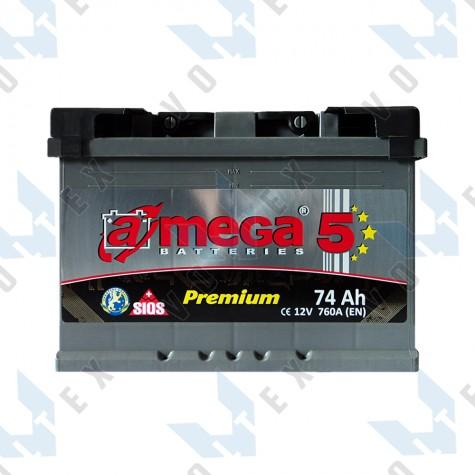 Аккумулятор A-Mega Premium 74Ah R+ 760A