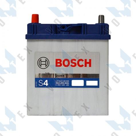 Аккумулятор Bosch S4 40Ah JL+ 330A (тонкая клемма)