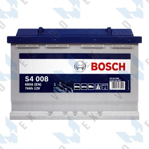 Аккумулятор Bosch S4 74Ah R+ 680A