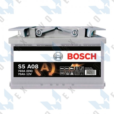 Аккумулятор Bosch S5 AGM 70Ah R+ 760A