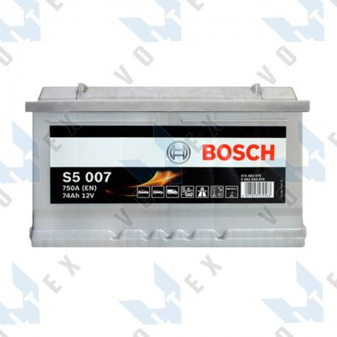 Аккумулятор Bosch S5 74Ah R+ 750A (низкобазовый)