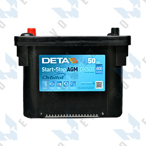 Аккумулятор Deta AGM Start-Stop 50Ah L+ 800A