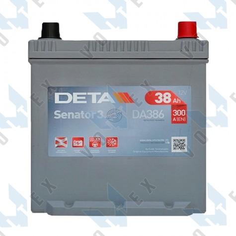 Аккумулятор Deta Senator 3 Carbon Boost Asia 38Ah JR+ 300A