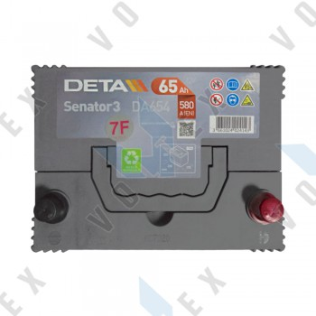 Аккумулятор Deta Senator 3 Carbon Boost Asia 65Ah JR+ 580A