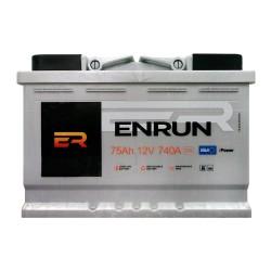 Аккумулятор Enrun Standard 75Ah R+ 740A