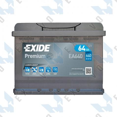 Аккумулятор Exide Premium 64Ah R+ 640A