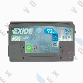 Аккумулятор Exide Premium 72Ah R+ 720A