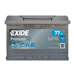 Аккумулятор Exide Premium 77Ah R+ 760A