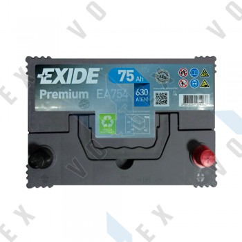 Аккумулятор Exide Premium Asia 75Ah JR+ 630A