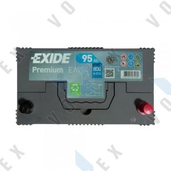 Аккумулятор Exide Premium Asia 95Ah JR+ 800A