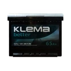 Аккумулятор Klema better 65Ah R+ 640A