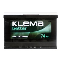 Аккумулятор Klema better 74Ah R+ 720A