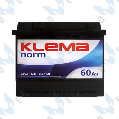 Аккумулятор Klema norm 60Ah L+ 540A