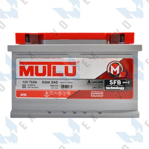 Аккумулятор Mutlu SFB technology 78Ah R+ 780A (низкобазовый)