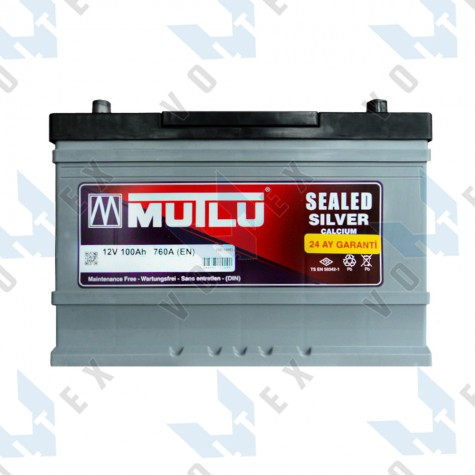 Аккумулятор Mutlu 100Ah JR+ 760A