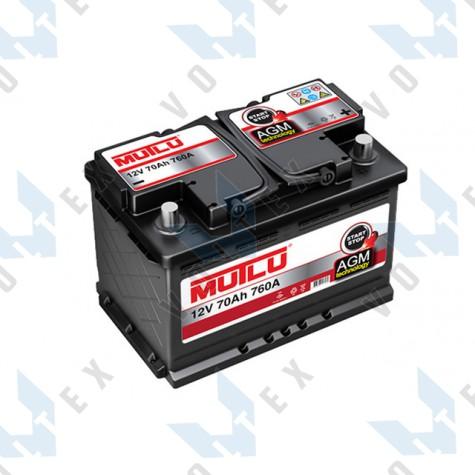 Аккумулятор Mutlu Start-Stop AGM 70Ah R+ 760A