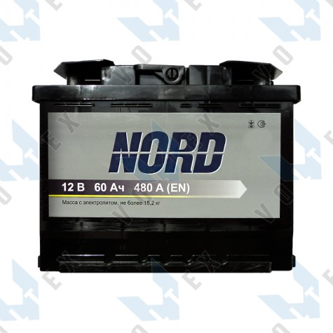 Аккумулятор Nord 60Ah R+ 480A