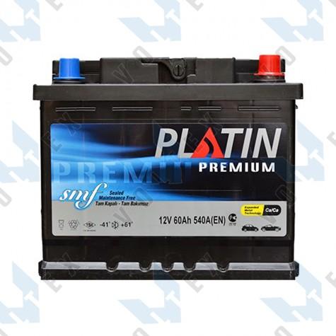 Аккумулятор Platin Premium SMF 60Ah R+ 540A