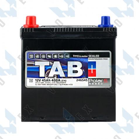 Аккумулятор Tab Polar S 45Ah JL+ 400A (тонкая клемма)