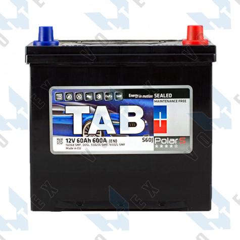 Аккумулятор Tab Polar S 60Ah JR+ 600A