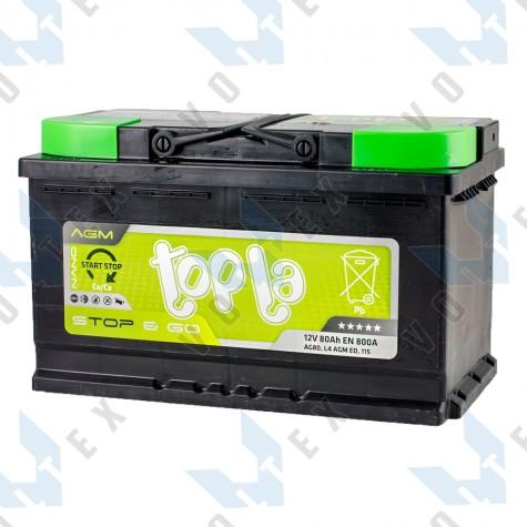 Аккумулятор Topla Start-Stop AGM 80Ah R+ 800A