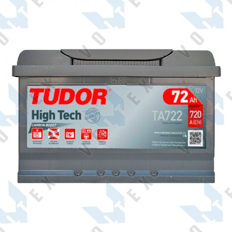 Аккумулятор Tudor High-Tech 72Ah R+ 720A