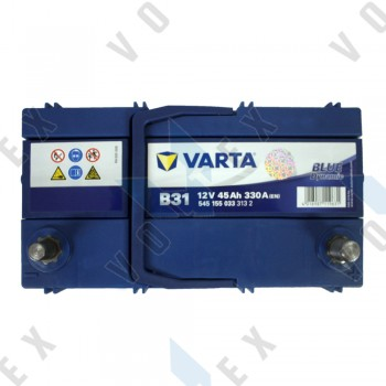 Аккумулятор Varta Blue Dynamic 45Ah JR+ 330A (тонкая клемма)