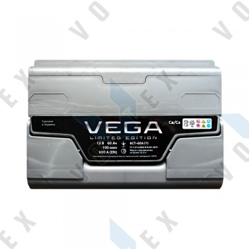 Аккумулятор Vega Limited Edition 60Ah L+ 600A