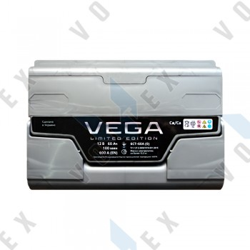 Аккумулятор Vega Limited Edition 60Ah R+ 600A